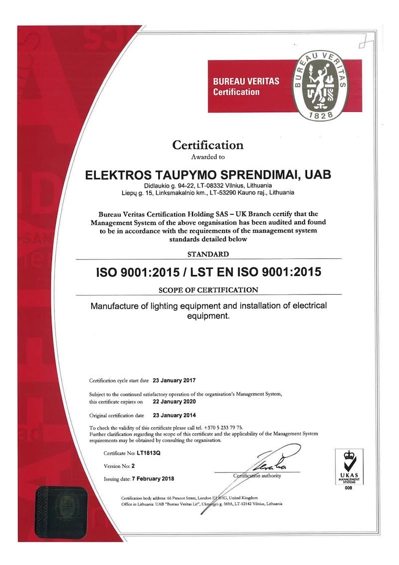 ECOLIGHT ISO 9001