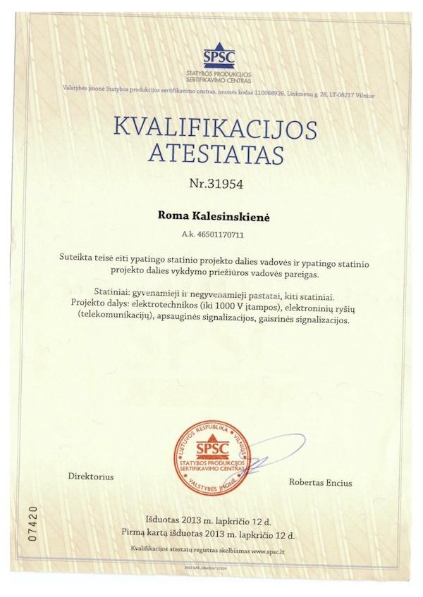 Roma Kalesinskienė SPSC