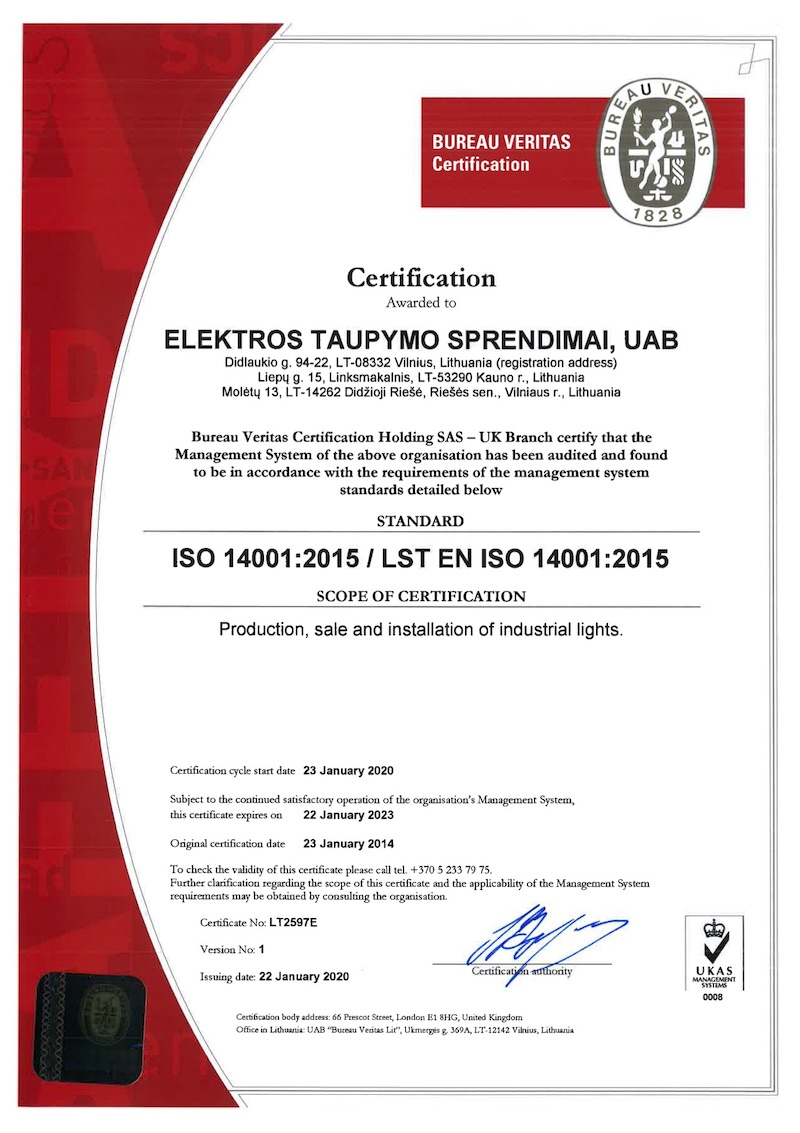 ISO14001 ECOLIGHT