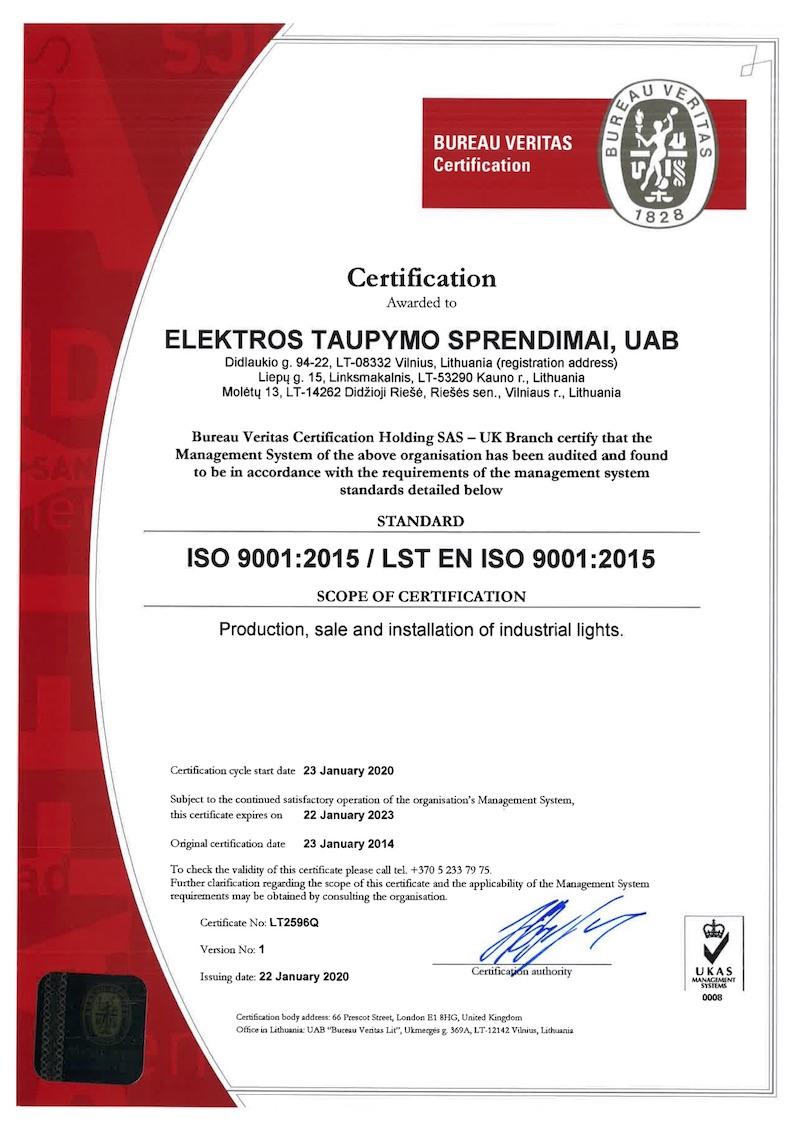 ISO 9001 ECOLIGHT