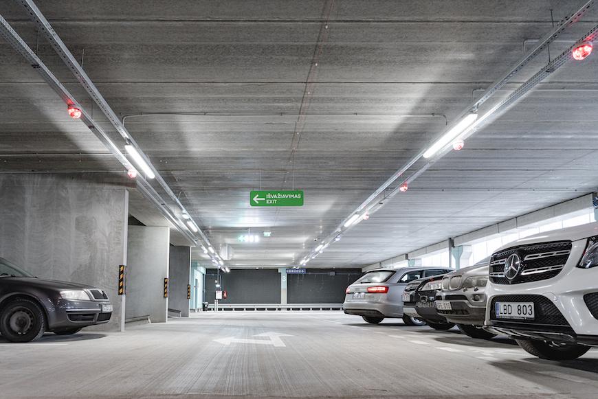 Multifunctional car parking (P4) at Vilnius Airport