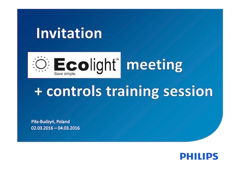 Ecolight meeting + Philips training